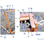 Collapsible Tufting Frame Parts List, Page 2, Closeups, with Parts Numbers Listed