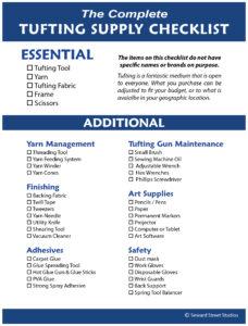 Tufting Supply Checklist