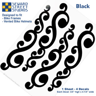 810 Black Vintage Swirls Decal Set by Seward Street Studios