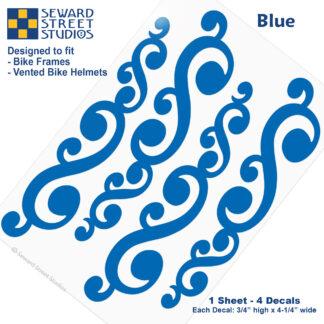 810 Blue Vintage Swirls Decal Set by Seward Street Studios