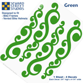 810 Green Vintage Swirls Decal Set by Seward Street Studios