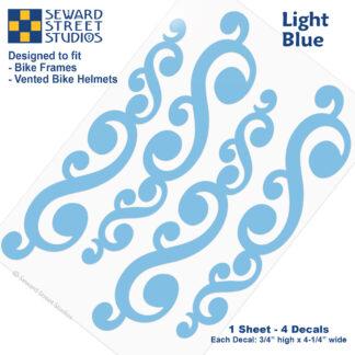 810 Light Blue Vintage Swirls Decal Set by Seward Street Studios