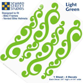 810 Light Green Vintage Swirls Decal Set by Seward Street Studios