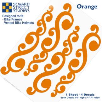 810 Orange Vintage Swirls Decal Set by Seward Street Studios