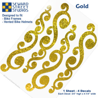 810G Seward Street Studios Gold Holographic Glitter Vintage Swirls