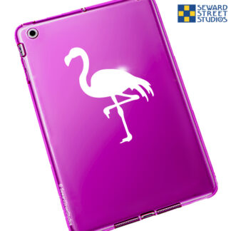 1071 Seward Street Studios flamingo decal shown on a pink tablet