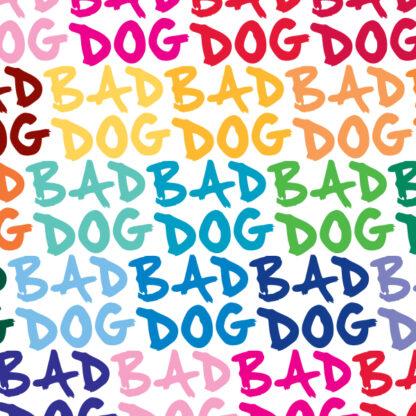 1118-Seward Street Studios bad dog vinyl decal in multiple colors