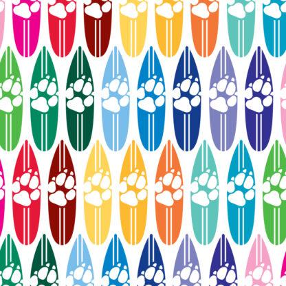 1175 Seward Street Studios Dog Print Surfboard decal in several colors