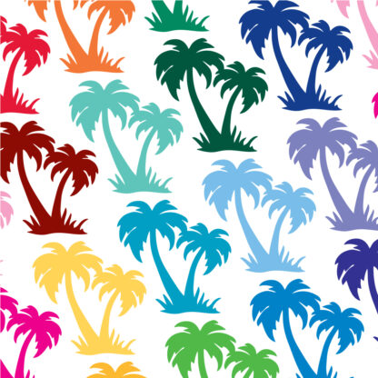 1186 Seward Street Studios palm trees decal shown in multiple colors
