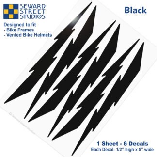 674 Seward Street Studios black lightning decal set