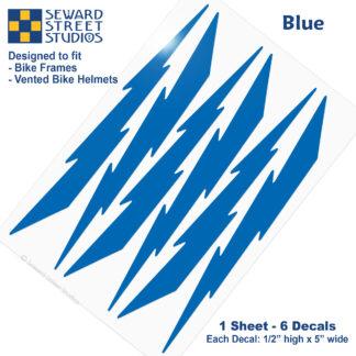 674 Seward Street Studios blue lightning decal set
