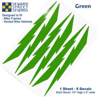674 Seward Street Studios green lightning decal set