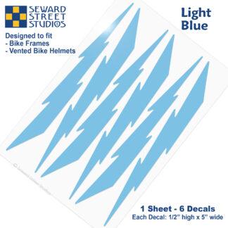 674 Seward Street Studios light blue lightning decal set