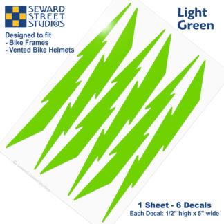 674 Seward Street Studios light green lightning decal set