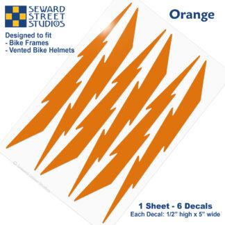 674 Seward Street Studios orange lightning decal set