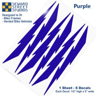 674 Seward Street Studios purple lightning decal set