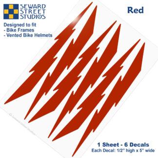 674 Seward Street Studios red lightning decal set