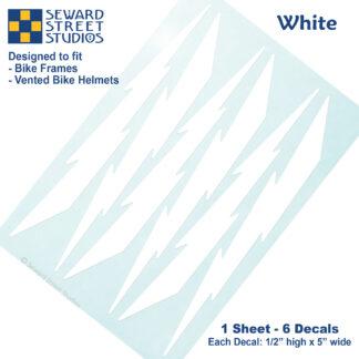 674 Seward Street Studios white lightning decal set