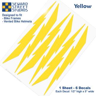 674 Seward Street Studios yellow lightning decal set