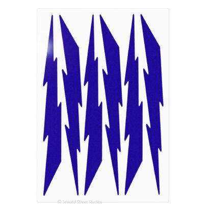 674 Seward Street Studios reflective purple lightning decal set shown in daylight
