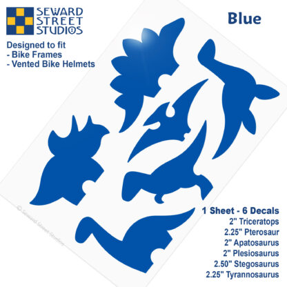 886 Seward Street Studios blue dinosaur decal set