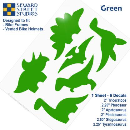 886 Seward Street Studios green dinosaur decal set