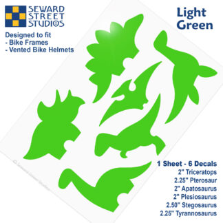 886 Seward Street Studios light green dinosaur decal set