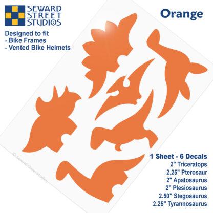 886 Seward Street Studios orange dinosaur decal set