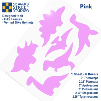 886 Seward Street Studios pink dinosaur decal set