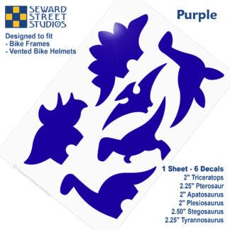 886 Seward Street Studios purple dinosaur decal set