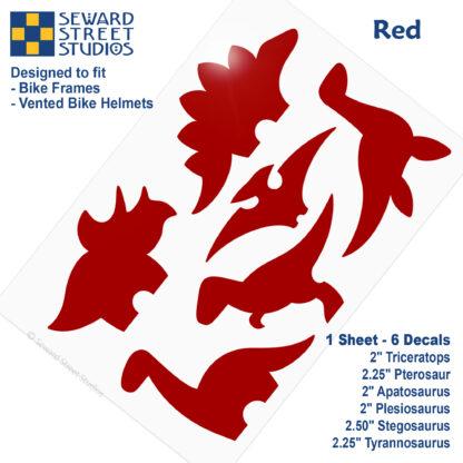 886 Seward Street Studios red dinosaur decal set