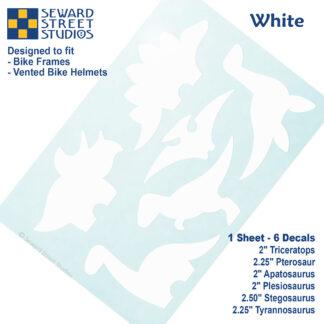 886 Seward Street Studios white dinosaur decal set