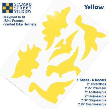 886 Seward Street Studios yellow dinosaur decal set