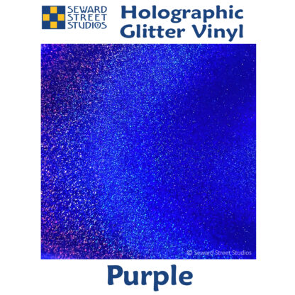 Purple holographic glitter vinyl option