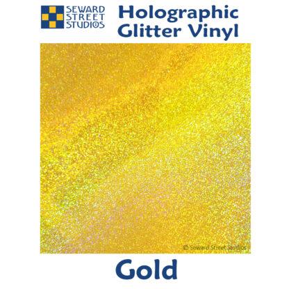 gold holographic glitter vinyl option