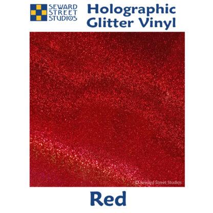 red holographic glitter vinyl option